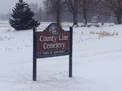 Countyline Rd cemetary sign
