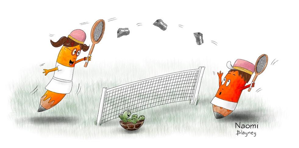 Pencil and Jasmina Tennis