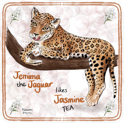 Jemima The Jaguar Memory Game Card