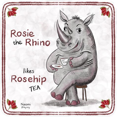 Rosie The Rhino Memory Game Card