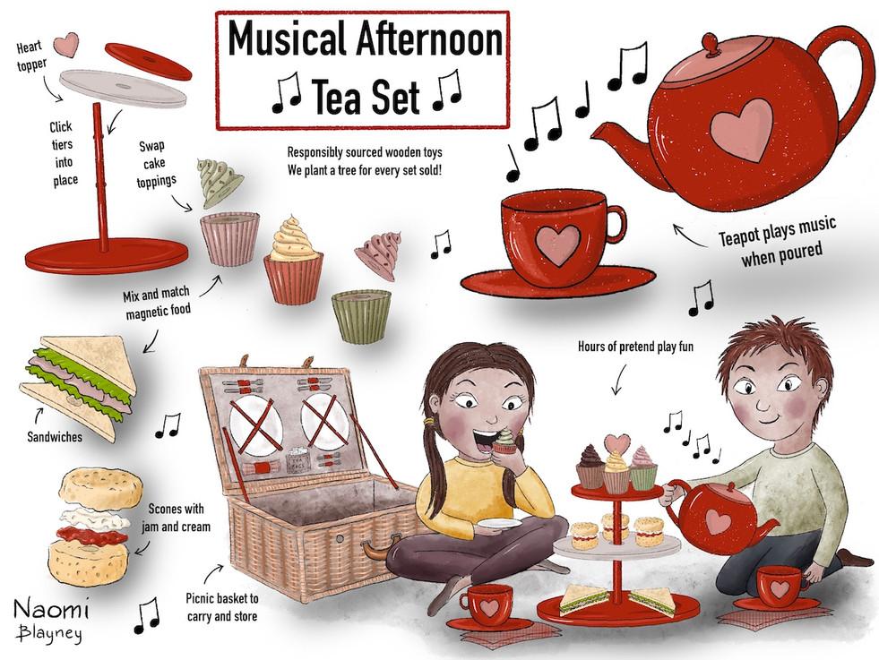 Musical Teapot Pretend Play Game