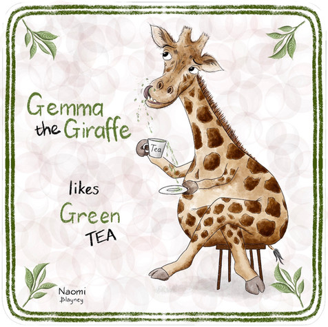 Gemma The Giraffe Memory Game Card