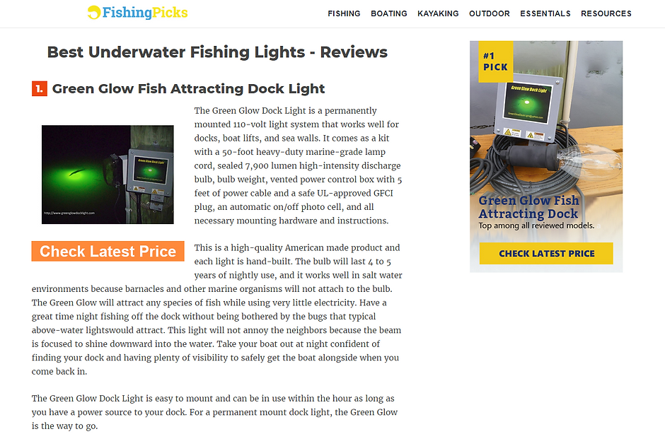 The Best Underwater Fishing Light
