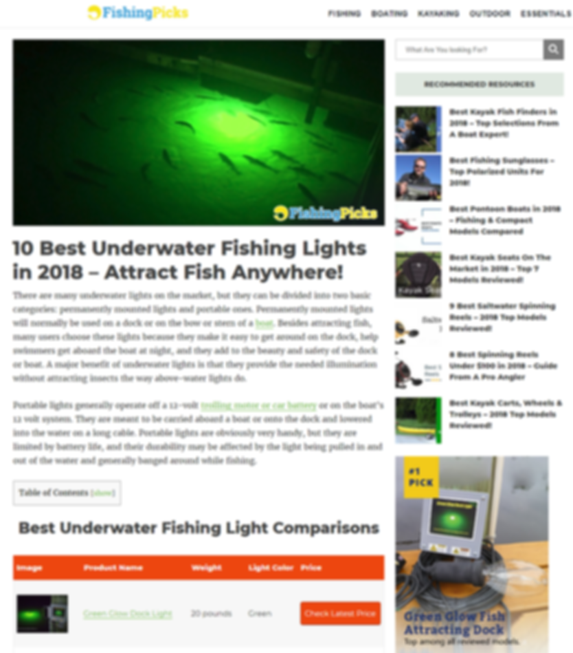 Rated #1 Underwater Fishing Light.