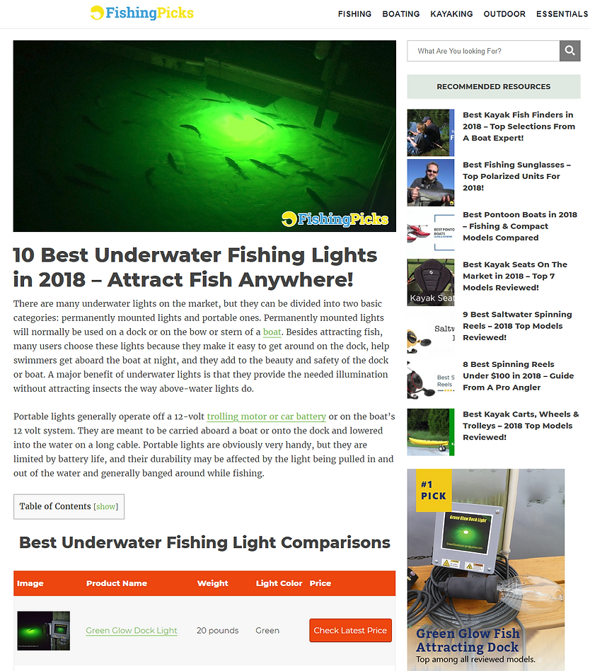 Rated #1 Underwater Fishing Light.