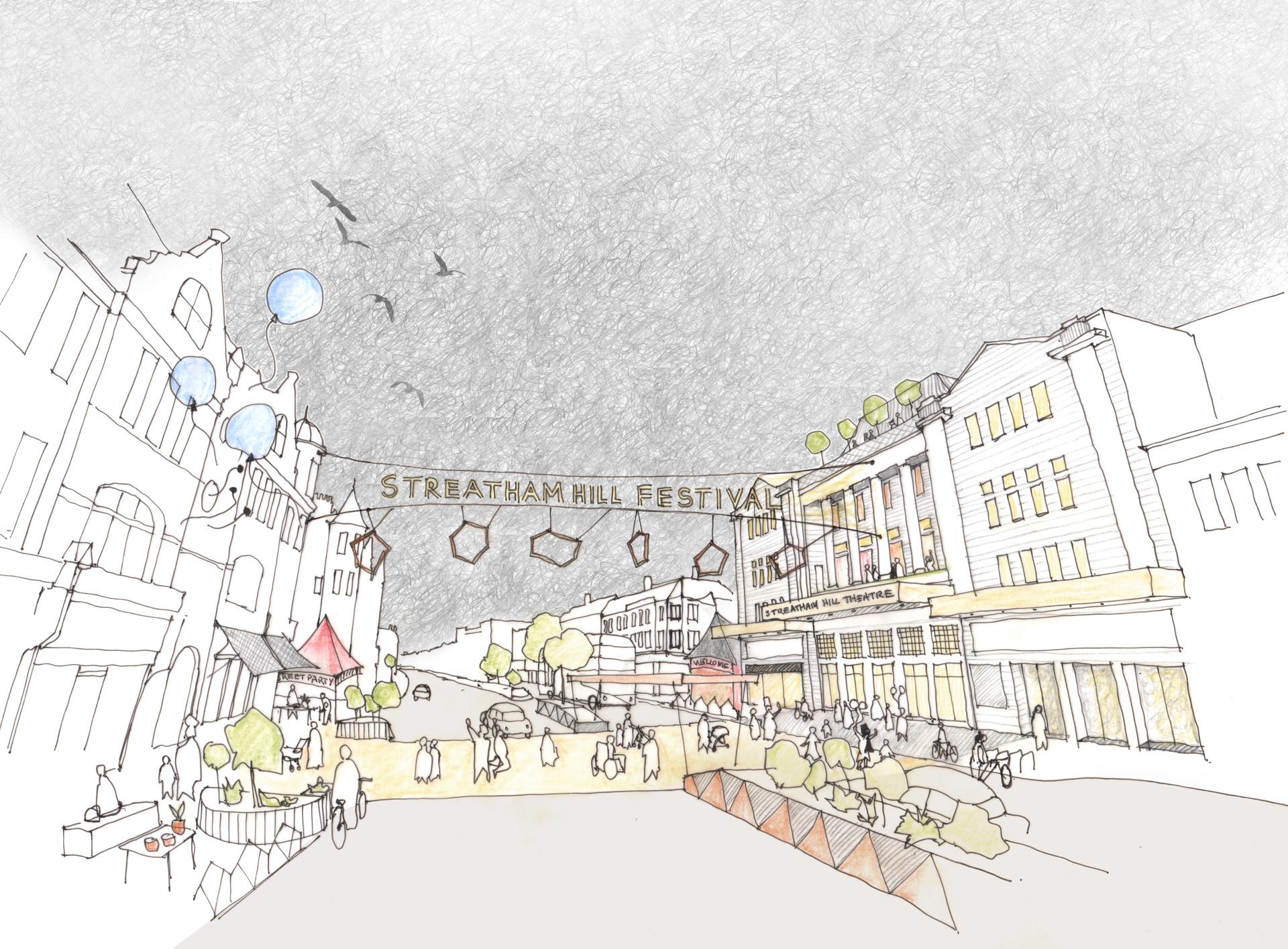 Streatham Hill Theatre Sketch Vision