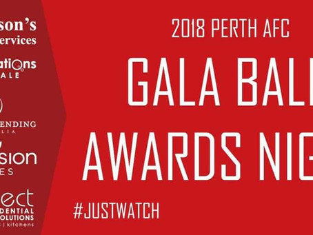 2018 Perth AFC Award Winners.
