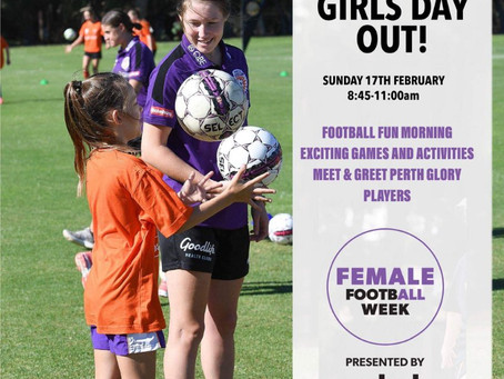 Perth AFC Supporting Rebel Female Football Week 16-24th Febuary.