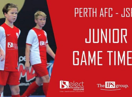 Junior Game Times For Round 16.