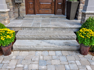 Flagstone applied to the original concre