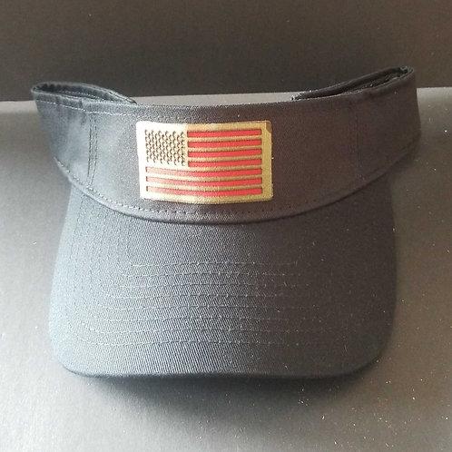 Combat Buckles Black Visor - American Flag
