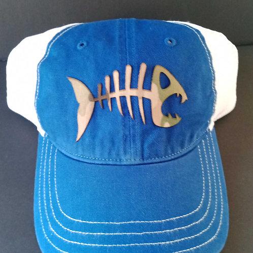 Skeleton fish 111 snap back