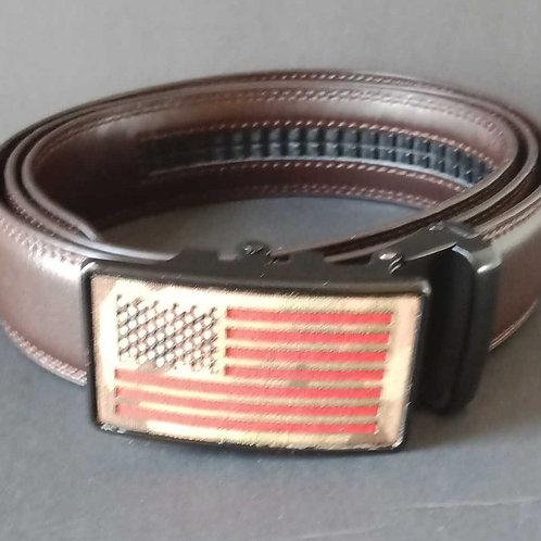 Slide belt. Ratcheting action/no holes/adjustable