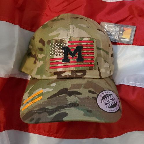 Custom flag with navy blue M