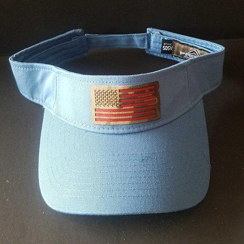 Combat Buckles Carolina Blue Visor - American Flag