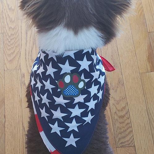 American 22 x 22 Dog bandana