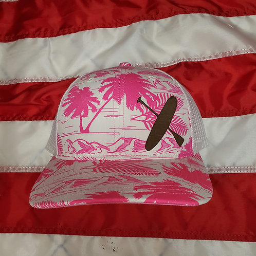 Pink paddle board