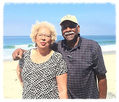 Doctor Gayle & Husband Ed Rogers at the beach in Dana Point, California