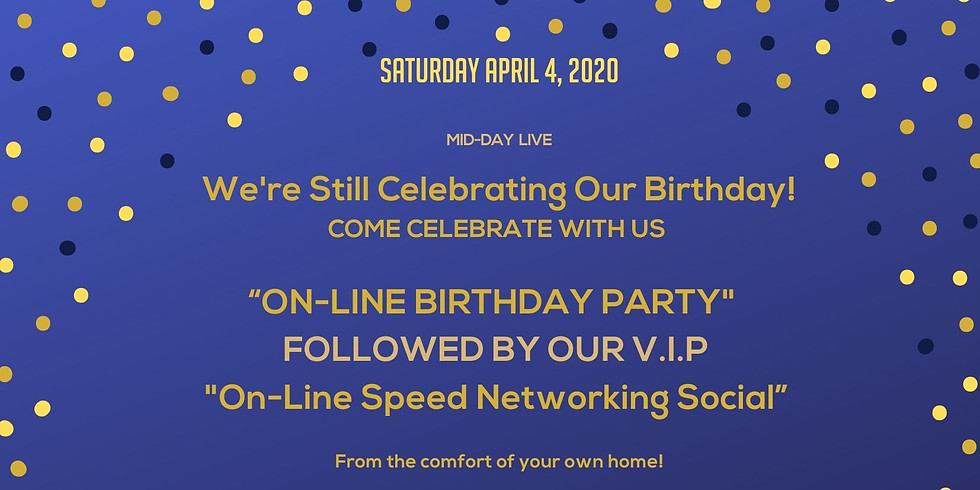 IT'S AN ONLINE BIRTHDAY PARTY