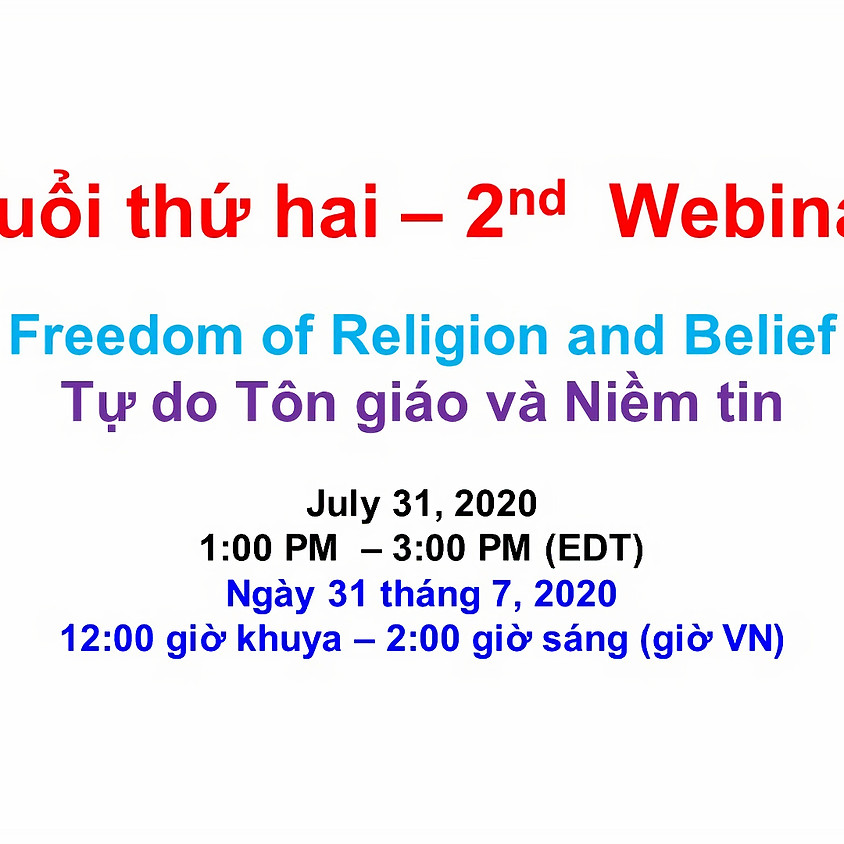 VIETNAM ADVOCACY DAY 2020: Webinar 2 - Freedom of Religion and the Rights of Indigenous Peoples continued