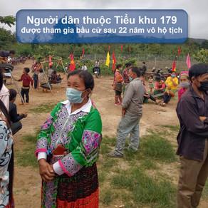 600 người dân Tiểu Khu 179 đã được cấp giấy tờ tùy thân trước ngày bầu cử