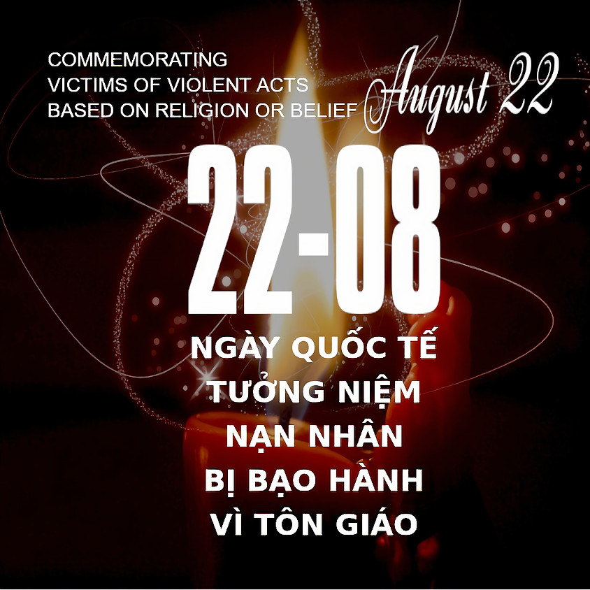 International Day Commemorating Victims of Acts of Violence Based on Religion or Belief, 22 August, 2020
