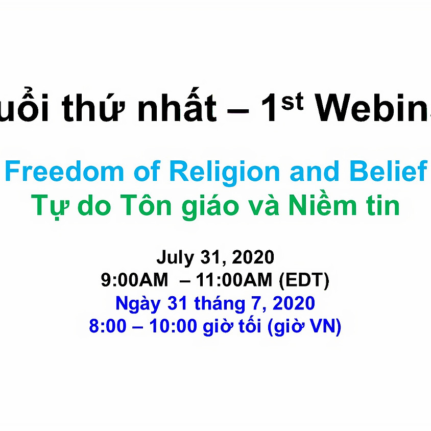 VIETNAM ADVOCACY DAY 2020: Webinar 1 - Freedom of Religion and the Rights of Indigenous Peoples