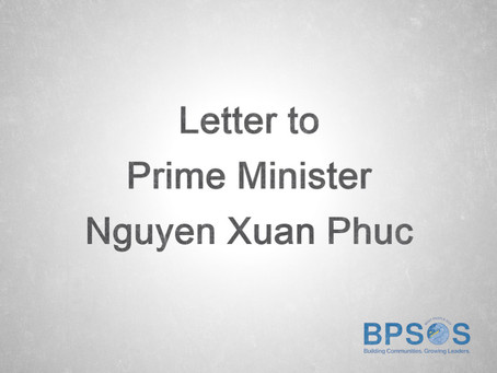 Letter to PM Nguyen Xuan Phuc