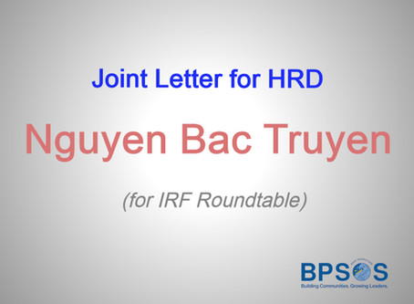 Joint Letter for HRD Nguyen Bac Truyen (for IRF Roundtable)