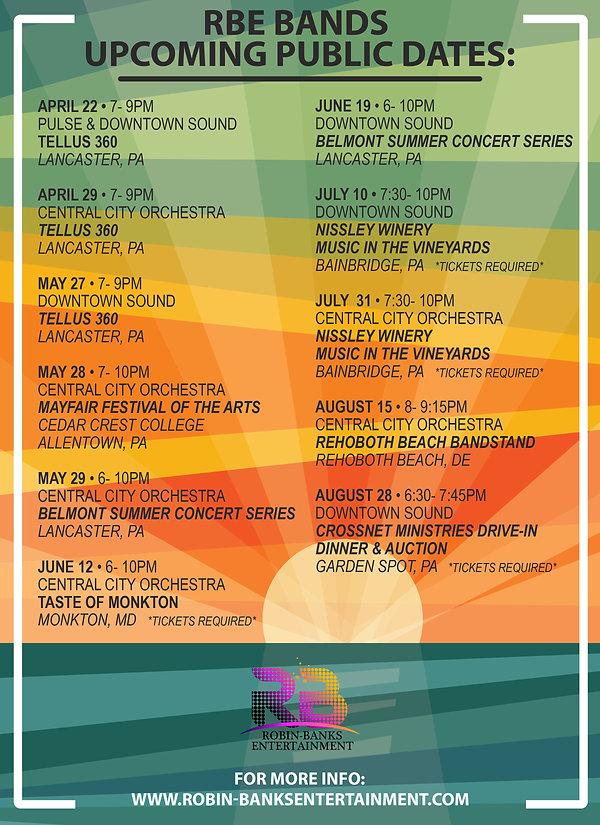 RBE Public Dates