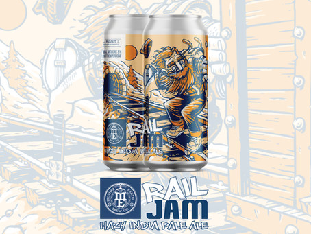 New Beer Alert! We're Going Off of the Rails on the Hazy Train with Rail Jam HIPA