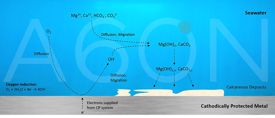 a60n, perth, su,calcareous, deposits, formation, calcium carbonate formation, calcite, seawater, cathodic protection, a60n,  CP, reduction, oxidation,sea,tom, hitchmough
