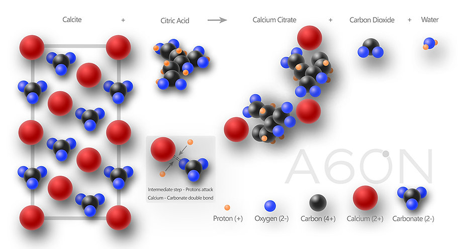 calcite,citric, acid, cleaing, a60n, subea, perth, calcareous, diagram,graphic,tom,hitchmough