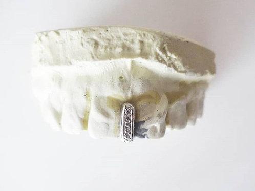 Grillz Interstice Zirconium Argenté ou Doré
