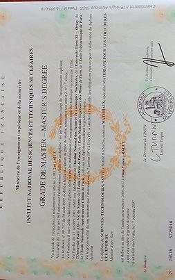 Diplôme certifié du CEA