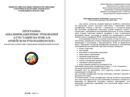 Поясная система ФАРБ России