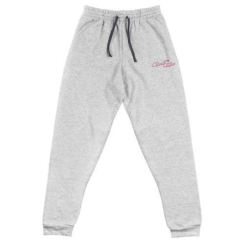 V74 Pink Embroidered Unisex Joggers
