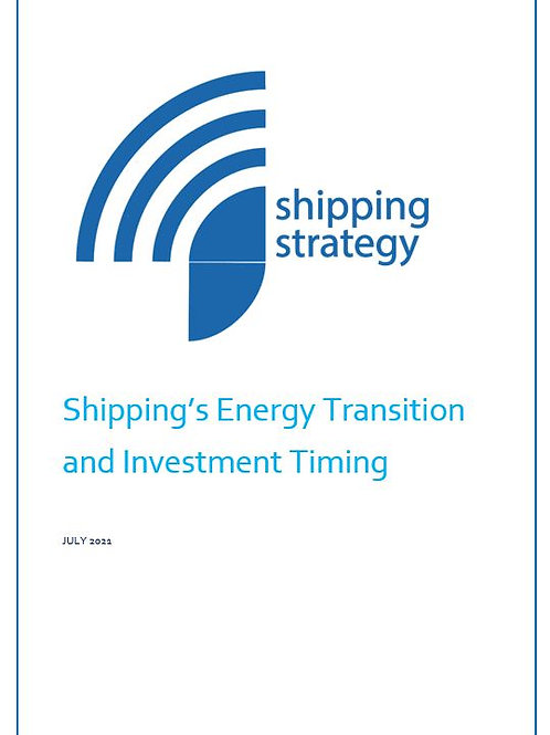 Shipping's Energy Transition and Investment Timing