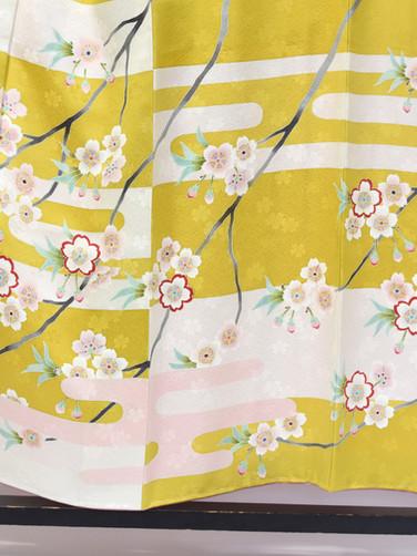 振袖「春霞に山桜」