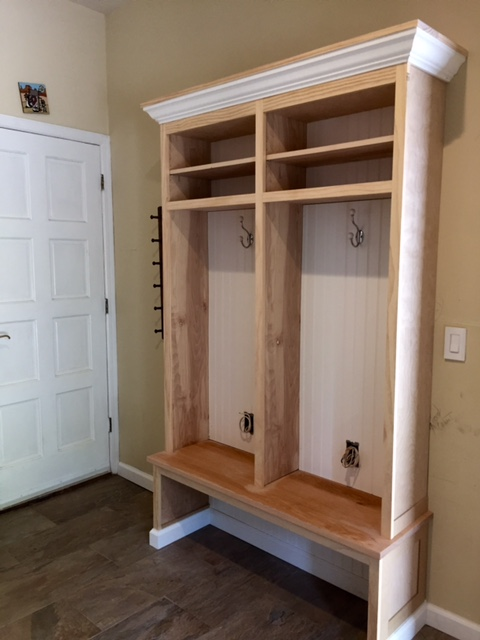 Mud Room Renovation & Custom Cubbies