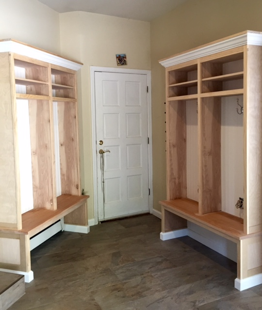Mud Room Custom Built Cubbies