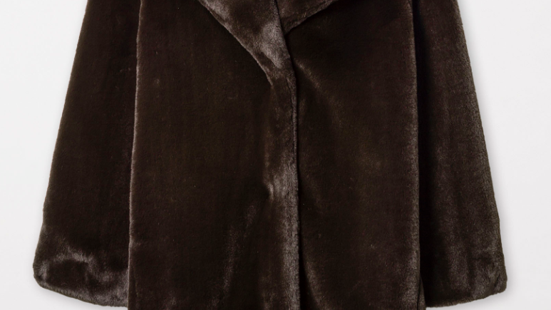 Luisa Cerano - Imitation-Fur Overcoat - Chocolate