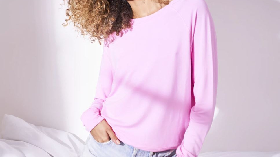 Stripe & Stare - Sweatshirt - Candy Floss