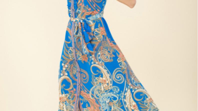 Hale Bob - Josie Ruffle Shirtdress - Blue