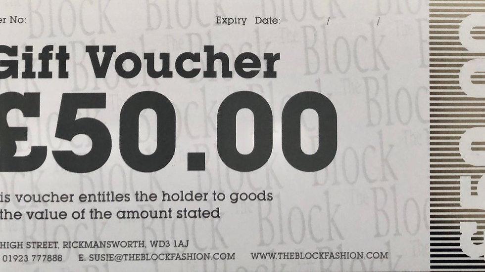 The Block Fashion £50.00 - Gift Voucher