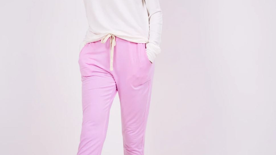 Stripe & Stare - Lounge Pant - Candy Floss