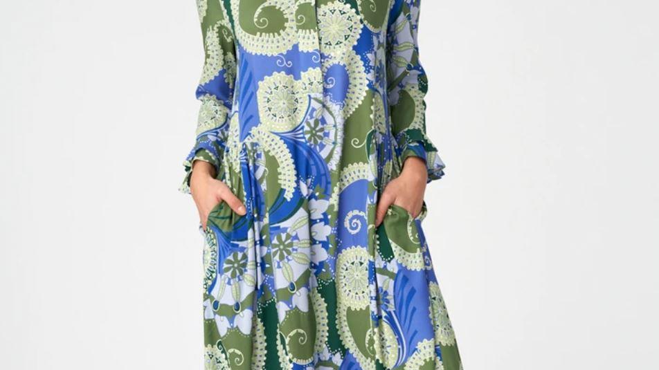 Dea Kudibal - ROSANNA (V) - Khanga Green - Dress