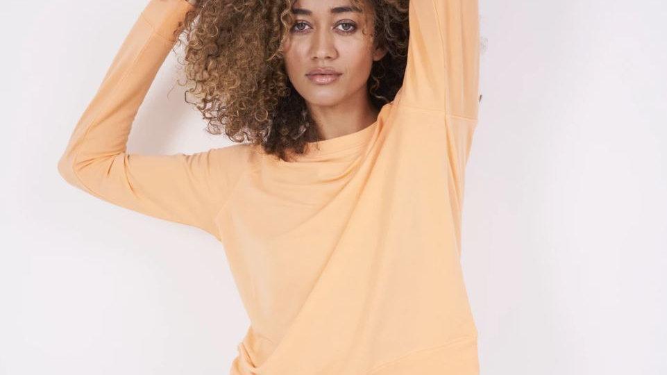 Stripe & Stare - Sweatshirt - Mango Sorbet