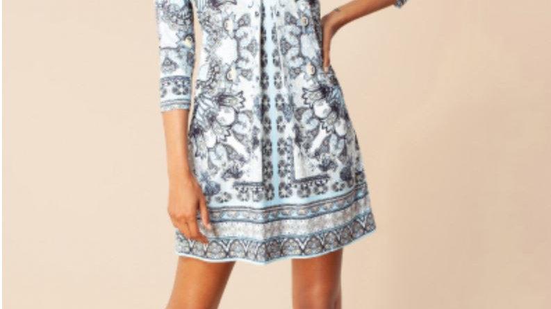 Hale Bob - FARRAH JERSEY DRESS *BEADED* - Light blue
