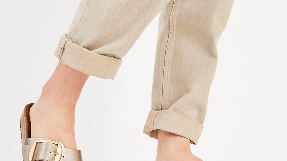 Birkenstock - Madrid Big Buckle Sandals - Graceful Taupe White